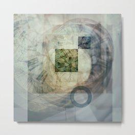 multi exposure clock  2 Metal Print