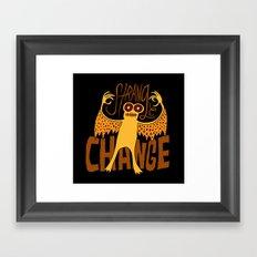 Strange Change Framed Art Print