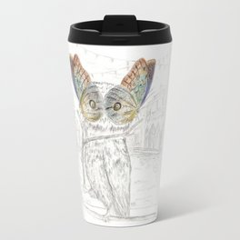 Miss Owl and butterfly friends at the Venice Carnival Travel Mug