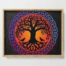 Viking Yggdrasil World Tree Serving Tray