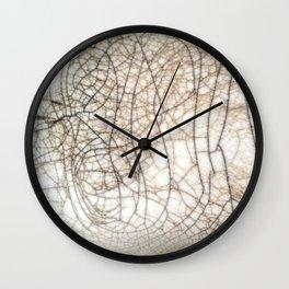 Raku crackles Wall Clock