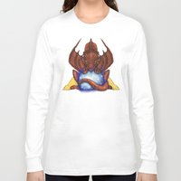 smaug Long Sleeve T-shirts featuring Smaug by YattaGiulia