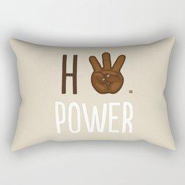 HiiiPower (w/text) : Chocolate Rectangular Pillow