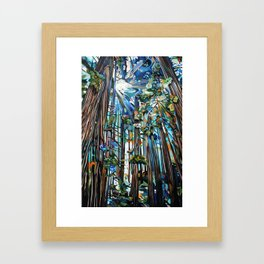 Golden Cedars Framed Art Print