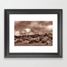 Walking the dunes Framed Art Print