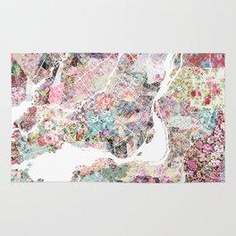 Montreal map - Landscape orientation Rug