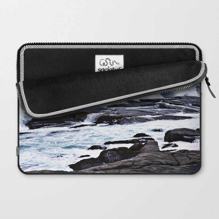 Ferocious Ocean -- Peggy's Cove, Nova Scotia  Laptop Sleeve