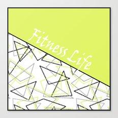 The fitness club . Sport . Lemon white creative sport pattern . Canvas Print
