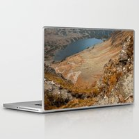 hiking Laptop & iPad Skins featuring Mountain hiking by Mariana Lisina