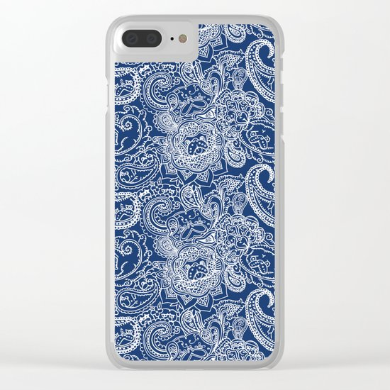 Paisley Pug Clear iPhone Case