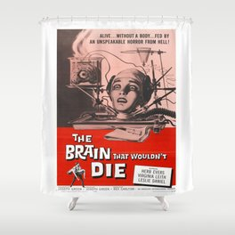 The Brain That Wouldn't Die Movie Poster Shower Curtain
