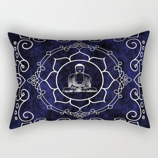 Buddha Lotus Mandala Rectangular Pillow