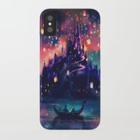 happy birthday iPhone & iPod Cases featuring The Lights by Alice X. Zhang