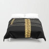 metal Duvet Covers featuring Metal by Maria Julia Bastias