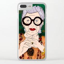 iris apfel Clear iPhone Case