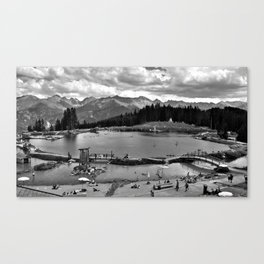 adventure park hög alps serfaus fiss ladis tyrol austria europe black white Canvas Print