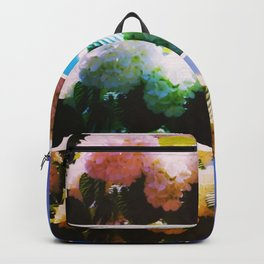 Bright Snowball Branch Collage (III) Backpack