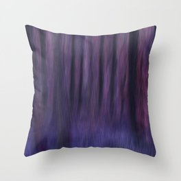 Painted Trees 2 Purples Throw Pillow