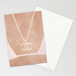 summer fashion Stationery Cards