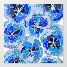 Floral Blue Canvas Print