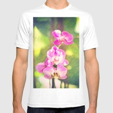 Orchid Impressions MEDIUM White Mens Fitted Tee