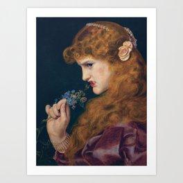LOVES SHADOW - FREDERICK SANDYS  Art Print