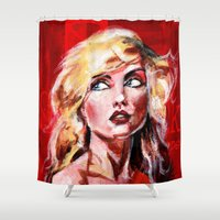 blondie Shower Curtains featuring Blondie by dawn schreiner