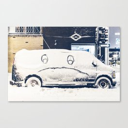 Snowy Mad Truck Canvas Print