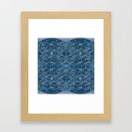 Crystal Geometry Framed Art Print