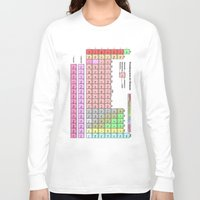periodic table Long Sleeve T-shirts featuring Periodic Table Of  The Elements by GrafXthings