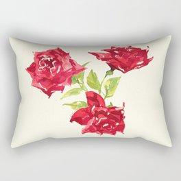 Three Red Roses Rectangular Pillow