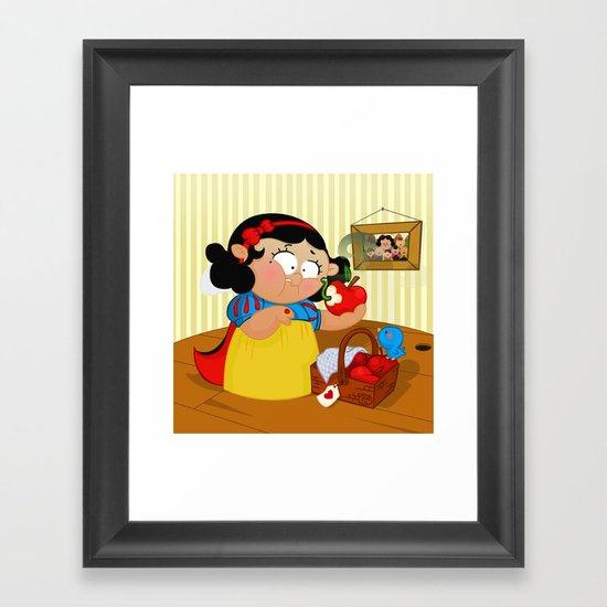 Snow White (apple) Framed Art Print