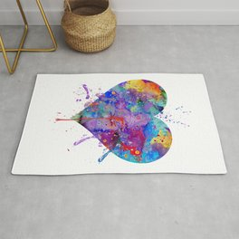 Heart Art Colorful Watercolor Gift Love Gift Valentine's Day Gift Wedding Gift Engagement Gift Rug
