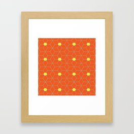 Moroccan star Framed Art Print