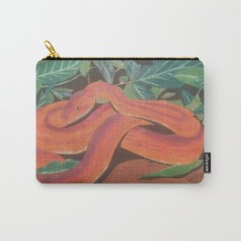 Original colored pencil drawing of a orange snake by Katy Christoff Carry-All Pouch