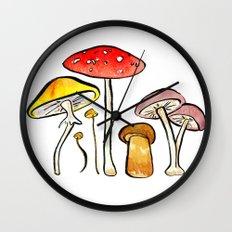 Woodland Mushrooms Wall Clock