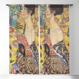 Gustav Klimt - Woman with Fan Blackout Curtain