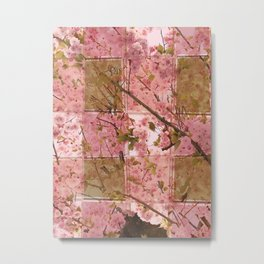 Blooming Squares Metal Print