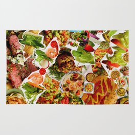 Food Collage 3 Rug
