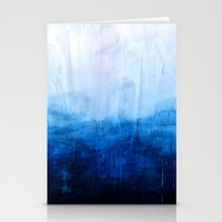 poster Stationery Cards featuring All good things are wild and free - Ocean Ombre Painting by Prelude Posters