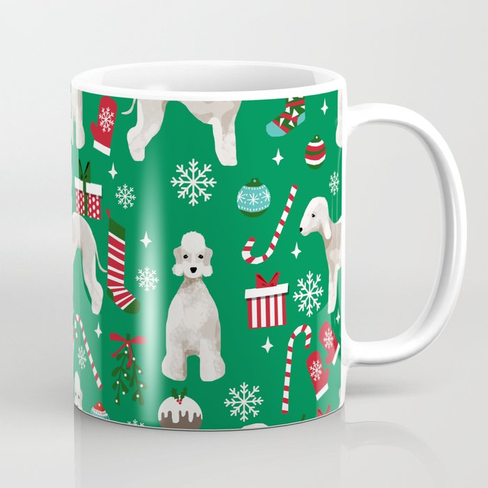 Bedlington Terrier christmas dog pattern gifts dog breed pet friendly design Coffee Mug