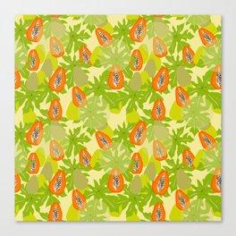 Papaya Storm Canvas Print