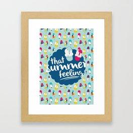That summer feeling - Blue Framed Art Print