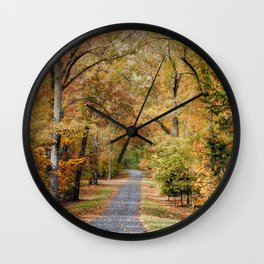 Autumn Passage 2 - Fall Landscape Scene Wall Clock