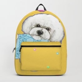 Bichon Frise Holidays yellow cute dogs, Christmas gift, holiday gift, birthday gift, dog, Bijon Backpack