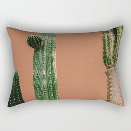 Cactus Against Orange (Color) Rectangular Pillow