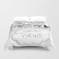 the fault Duvet Covers featuring The fault in our stars by Madwolf