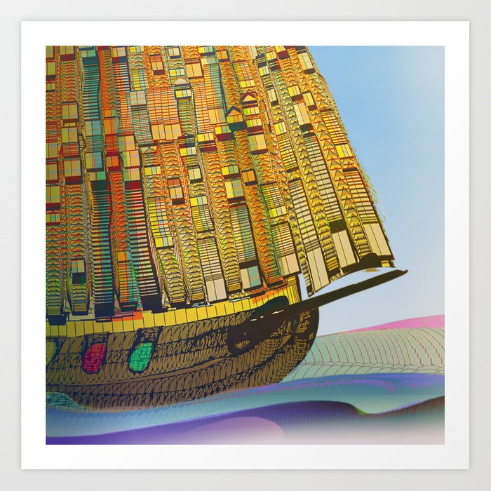 Sailing to the Summer Art Print