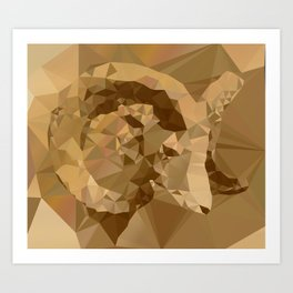 My Digital Trophy - Abstract Art Low Poly Triangle Animals Art Print