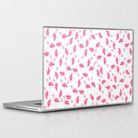 flamingos Laptop & iPad Skins featuring flamingos by KASAMONART